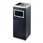Lakovaný hranatý odpadkový koš s popelníkem