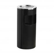 Odpadkový koš s popelníkem Charlie, 13 l, černý