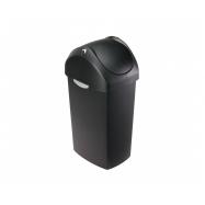 Odpadkový koš Simplehuman – 40 l, houpací víko, černý plast