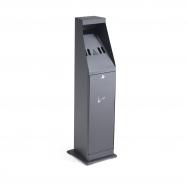 Venkovní stojanový popelník Grant, výška 880 mm, černý