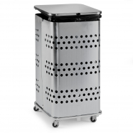 Stojan na odpadkové pytle s víkem, 125 l, pozink