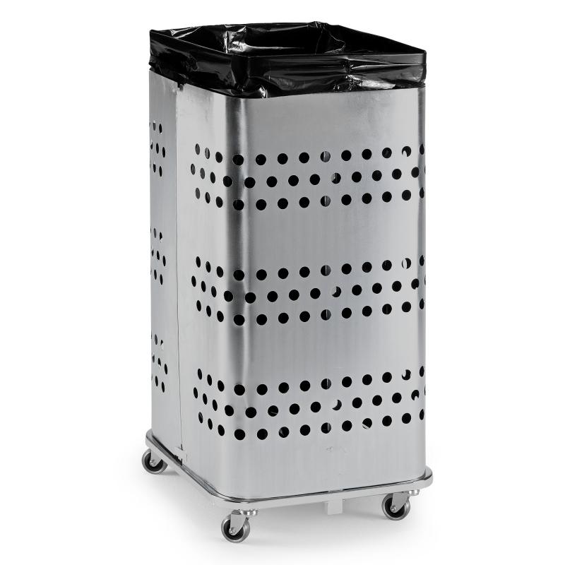 Stojan na odpadkové pytle bez víka, 125 l, pozink