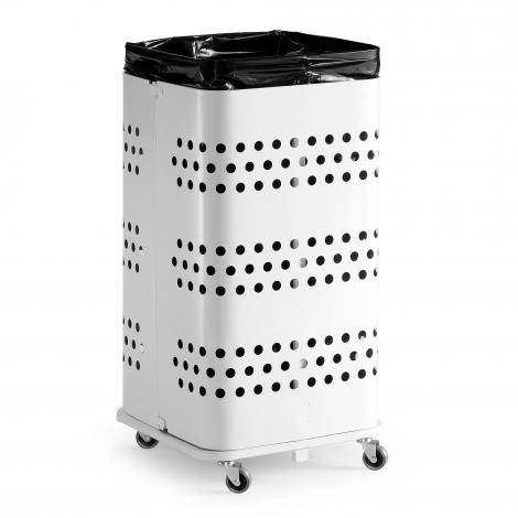 Stojan na odpadkové pytle bez víka, 125 l, bílá
