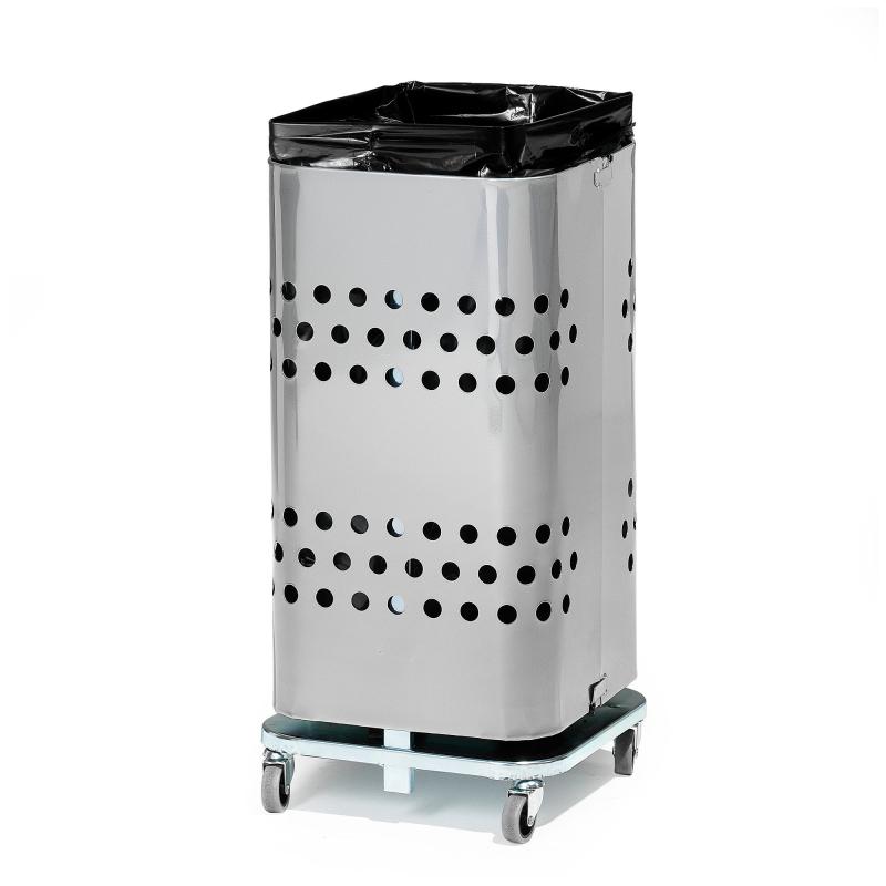 Stojan na odpadkové pytle bez víka, 60 l, pozink