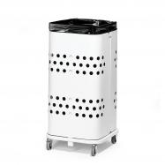 Stojan na odpadkové pytle bez víka, 60 l, bílá