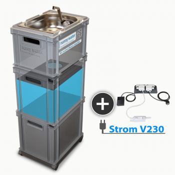 230V Baterie, mobilní zásobování vodou