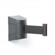 Zahrazovací pás, 9000 mm, nástěnná kazeta, černá, černý pás