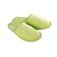 Pantofle froté velur NP, zelené, uzavřená špička, balení 100 ks