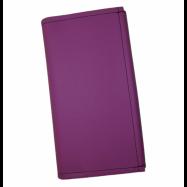 Číšnická kasírka - 2 zipy, koženka, fialová
