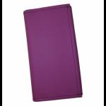 Koženková dvouzipová kasírka / flek ve fialové barvě, vzorem napodobujícím kůži. Standartní provedení kasírky vhodné pro všechny čišníky a servírky.