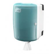 Tork Maxi zásobník na role se středovým odvíjením -  tyrkysová/bílá