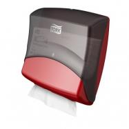 Tork Zásobník na skládané utěrky - Top Pack Holder, barva černá/červená