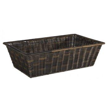 Košík plastový 53 x 32,5 x 15 cm, hnědý
