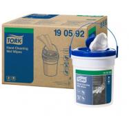 Tork Premium vlhčené utěrky na ruce (Handy Bucket), návin 15,7 m, 4 ks