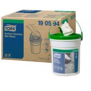 Tork Premium vlhčené utěrky na čištění povrchů (Handy Bucket), návin 15,7 m, 4 ks