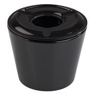 Popelník z melaminu ø65x55 mm, 4 kusy, černá
