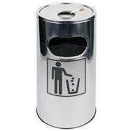 Odpadkový koš s popelníkem, nerezový ø300x600mm