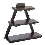 Bufetová stolička dřevěná 53x21x50 cm, tmavá