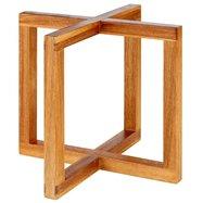 Bufetový podstavec pod nádoby, imitace světlého dřeva, 200x200x175 mm