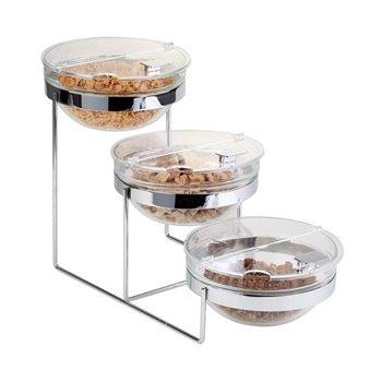 Bufetový etažér 610x240x350 mm, 3 salátové misky x2,5 l