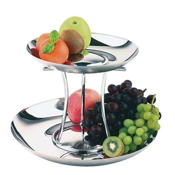 Etažér na ovoce dvoupatrový ø 330/420 mm, skládací