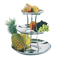 Etažér na ovoce, třípatrový, ø 240/330/420 mm, skládací