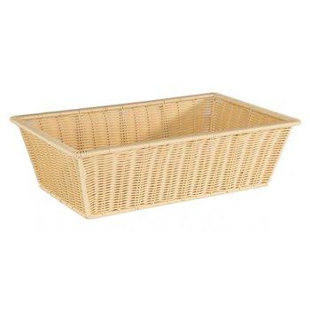 Košík plastový 53 x 32,5 x 15 cm, světle béžový