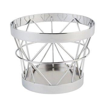 Kulatý kovový košík Ø 10,5 cm, chrom