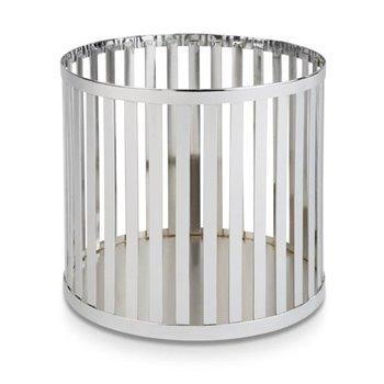 Kulatý kovový košík Ø 21 cm, chrom