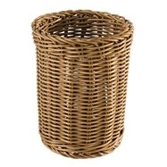 Kulatý košík na příbory Ø 12 cm, hnědý