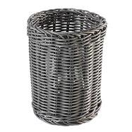 Kulatý košík na příbory Ø 12 cm, šedý
