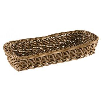Obdelníkový košík na příbory 27 x 10 x 4,5 cm, hnědý