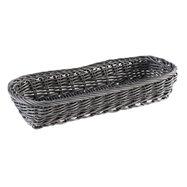 Obdelníkový košík na příbory 27 x 10 x 4,5 cm, šedý