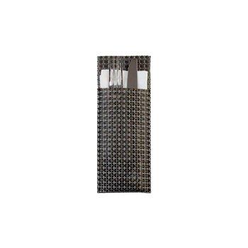 Pouzdro na příbory 24 x 9 cm, platinové