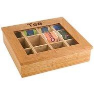 Krabice na čaj, jasné dřevo 310x280x90 mm