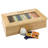 Krabice na čaj, jasné dřevo 335x200x90 mm
