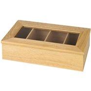 Krabice na čaj, jasné dřevo bez nápisu 335x200x90 mm