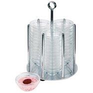 Dávkovač na misky 36x ø 60 mm, stojan se skleněnými nádobami