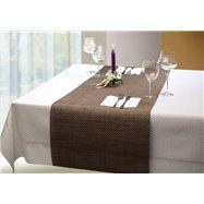 Podložka na stůl 450x150 mm, v barvě černá, v barvěbéžově-hnědé