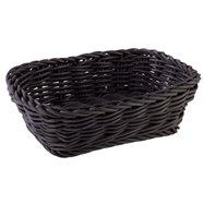 Obdélníkový košík z polypropylenu, černý 190x130x60 mm
