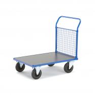 Plošinový vozík, 1 madlo s drátěnou výplní, 1085x700x1020 mm, bez brzd