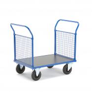 Plošinový vozík, 2 madla s drátěnou výplní, 1165x700x1020 mm, bez brzd
