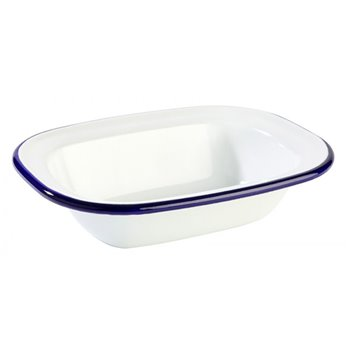 Smaltovaná miska, modrá 0,35 l