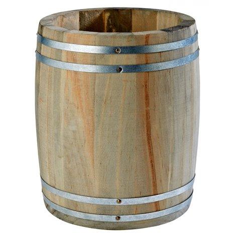 Dřevěný mini soudek na příbory, ø 175x85 mm