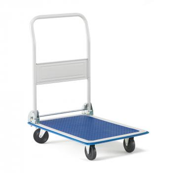 Skládací plošinový vozík Fold, nosnost 150 kg, PU kola, 720x480 mm