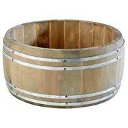 Dřevěný mini soudek na koření, ø 175x85 mm