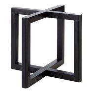 Bufetový podstavec pod nádoby, imitace tmavého dřeva, 200x200x175 mm