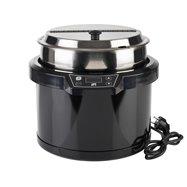 Elektrický kotlík na polévku 10 l, černý
