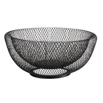 Kulatý kovový košík Ø 31 cm, černý