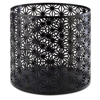 Košík z nerezové oceli, černý h 200 mm